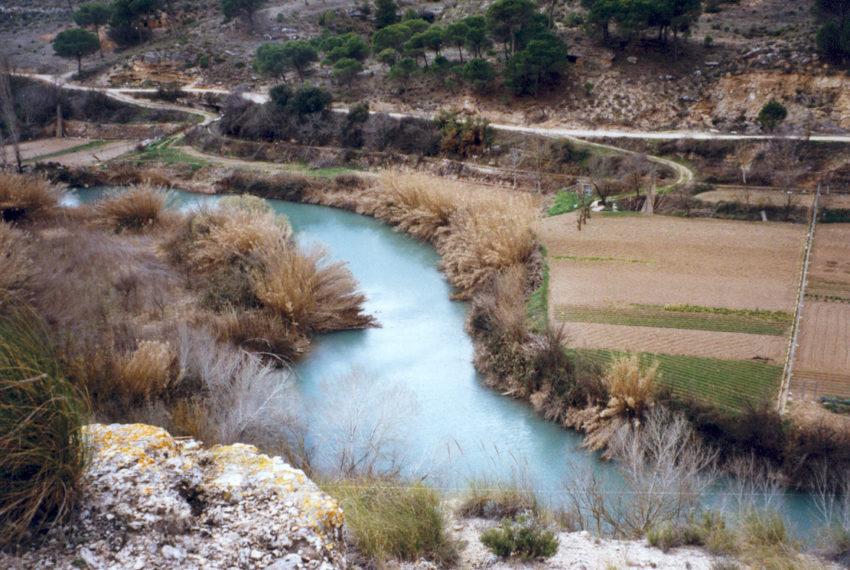 vista del río Júcar desde la finca